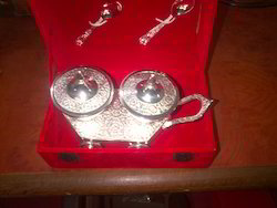 Silver Plated Bowls Set With Spoon
