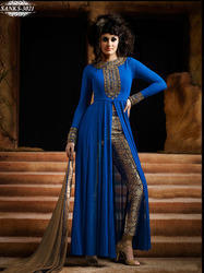Blue Georgette Party Wear Salwar Kameez