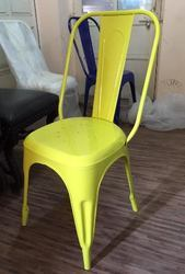 Vintage Industrial Yellow Tolix Dining Chair