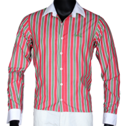 Cotton stripe shirt suppliers manufacturers traders - Combination of green and pink ...