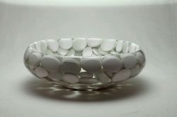 Prayosha Tyre White Pebbles Washbasin