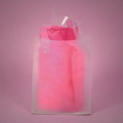 Soft Handle Flap Wine Bag
