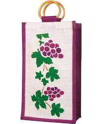 Printed Wine Bag