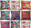 Tropical Kantha Cushion Pillow Covers