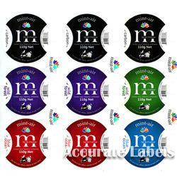 Multicolor Self  Adhesive Label