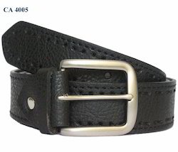 Men Customized Black Leather Belts