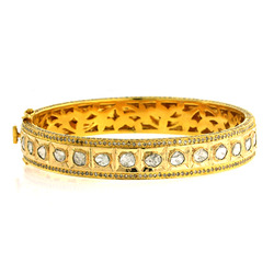 Rose Cut Diamond Bangles Jewellery