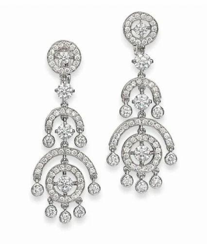 white cz stone necklace designs
