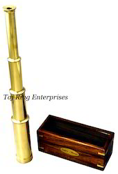 Brass Telescope With Mirror Box