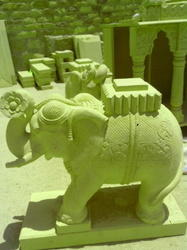 Crafted Stone Elephant