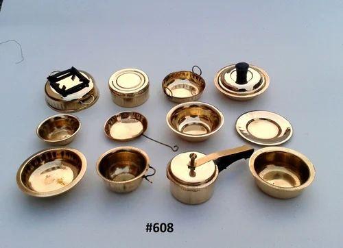 Brass Miniature Kitchen Set Online India La Boucle