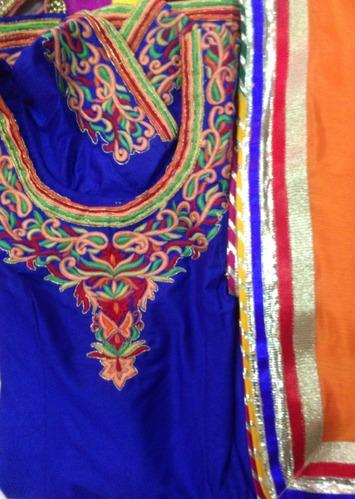 Punjabi Suits Neck Design 2014 Party Wear New Fasion