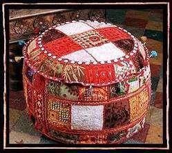 Bohemian Antique Patchwork Ottomans