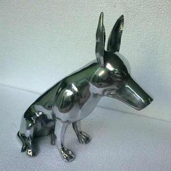Aluminum Bull Terrier Dog Statue