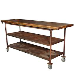 Trolley Wooden Shelves