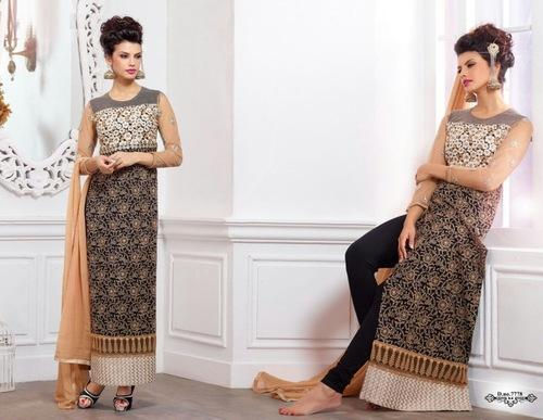 Printed Embroidered Salwar Kameez