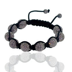 Pave Diamond Beads Bracelet Jewelry