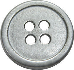 silver metal button