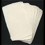 Deckle Edged Visiting Cards Made From Cotton Rag