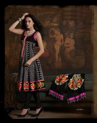 Black Readymade Suit Fashionable Wear