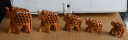 Wooden Elephant Set