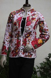 Print Cotton Quilted Coat
