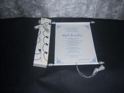 Embroidered Scroll Invitations
