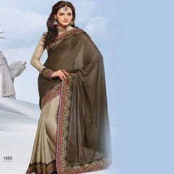 Fashionable Crepe Designer Sarees