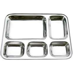 Stainless Steel Square Compartment Mess Tray