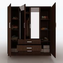 Bedroom wardrobe bedroom wardrobe manufacturers for 4 door wardrobe interior designs