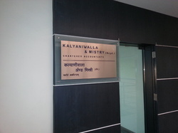Filled Label Bronze Nameplate