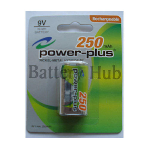 9v Power Plus NiMH Rechargeable Battery