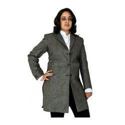 designer gray overcoat
