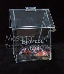 Acrylic House Toffee Box