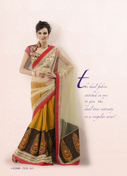 Designer Embroidery Party Wear Sarees
