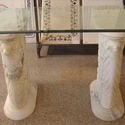 Indian White Marble Table Base
