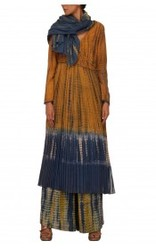 Matka Silk Tie & Dye Ghera Dress With Palazzos