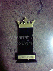 Acrylic King Crown Trophy