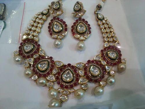 Jadau Jewellery Jadau Polki Diamond Meena Set Retailer