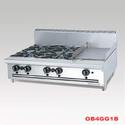 Stainless Steel Combination Open Burner Griddle