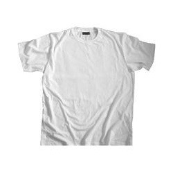 Plain Round Neck White T-Shirt