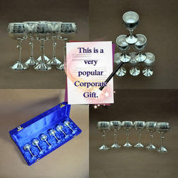 Brass Silver Plated Tequila Shot Glass
