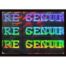 Secure Genuine Hologram Labels