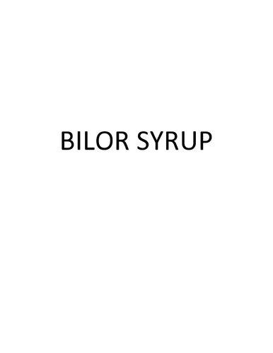 Bilor Syrup
