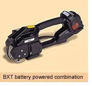 Battery Powered Combination Tools for Polyester Strapping