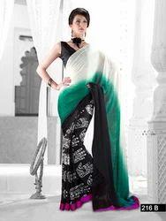Black and Green Cinema Designer Sarees
