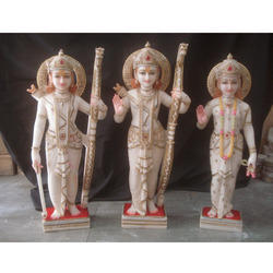 Rama Statue In White Stone