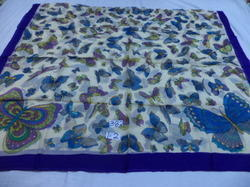 pure silk butterfly printed pareos