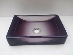 Rectangle purple Resin Wash Basin