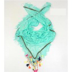 Tassle And Lace Scarves